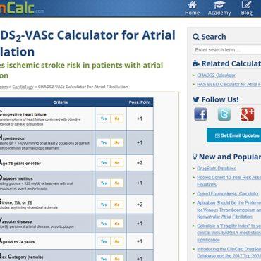 CHA2DS2-VASc kalkulator