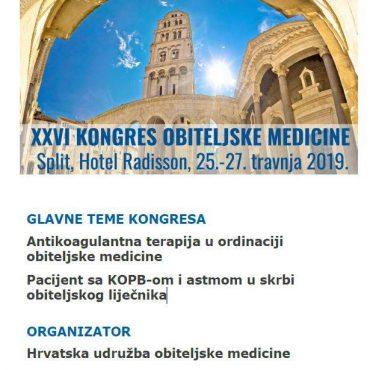 Finalni program XXVI. Kongresa obiteljske medicine