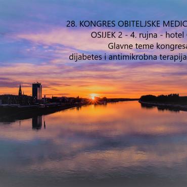 POZIV NA SUDJELOVANJE 28. KONGRESA OBITELJSKE  MEDICINE – HUOM  2 – 4. rujna 2021.